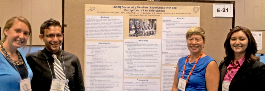 Tania Israel and graduate students present at the national APA Conference
