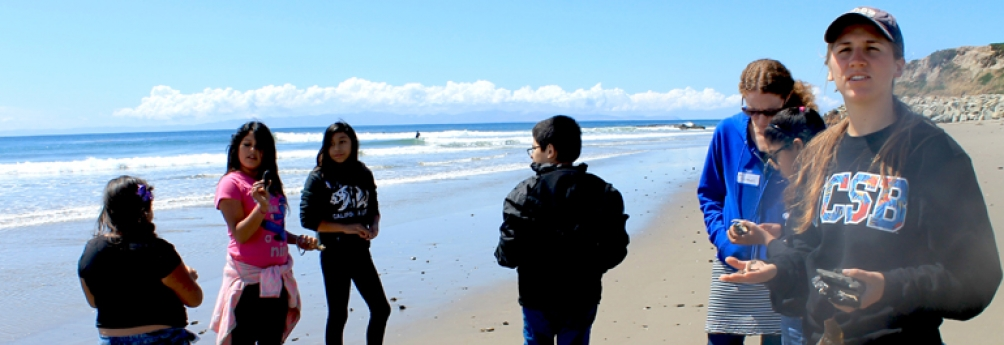 Harding University Partnership School students visiting UCSB