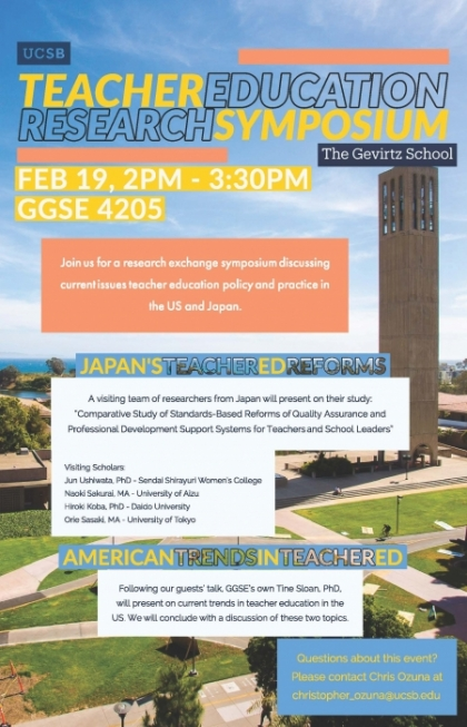 Flyer for teacher education research symposium