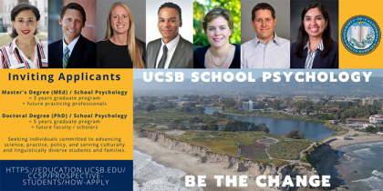 flyer for School Psychology at UCSB