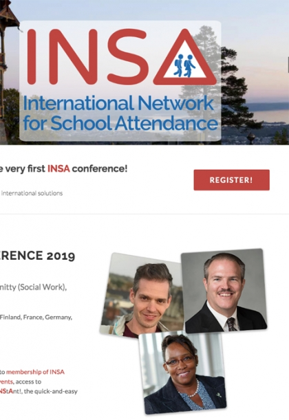 INSA conference homepage featuring photo of Michael Gottfried