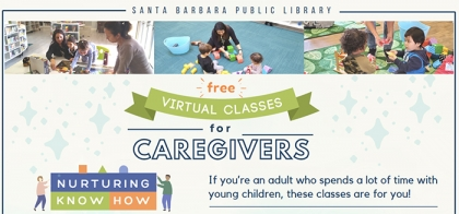 banner for Virtual Classes for Caregivers series
