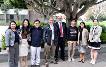 Dean Milem with Britt Ortiz of EAOP and the Seoul National University visitors