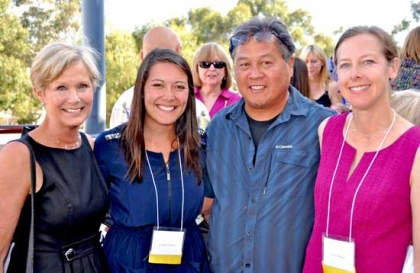 The 2014 Tuyay Memorial Fellows Jennifer Feeney and Patty Malone with Herb Tuyay.