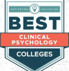 Best Clinical Psychology Colleges Badge