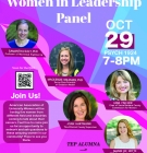 flyer for AAUW Women in Leadership event