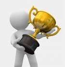 generic person holding an award