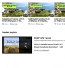 Screen Cap of CCSP YouTube playlist