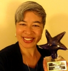 Tania Israel with her Shining Star award