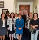 Dean Milem with LEARN group and Rep. Bonamici