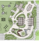 plan for one of the naturescapes at Harding University Partnership School