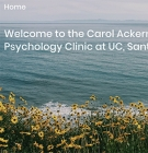 screen shot of Positive Psychology Clinic web page