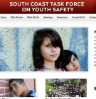South Coast Task Force on Youth Safety webpage screencap